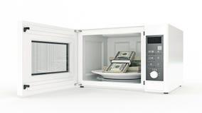 Mikrowelle mit Geld vektor abbildung