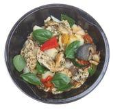 Mikrowellen-Huhn-Mahlzeit Stockfotos