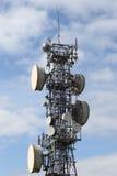 Mikrowellen-Mast Stockfoto