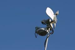 Mikrowellen-Nachrichten-Teller Stockfotos