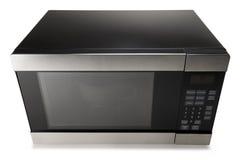 Mikrowellenherd auf einem weißen Hintergrund Stockfoto