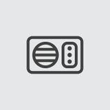 Mikrowellenikonenillustration Stockbild