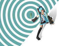 Miku Hatsune cosplay Fotografia Stock