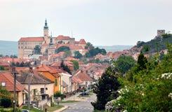 Mikulov全景,捷克共和国 免版税库存照片