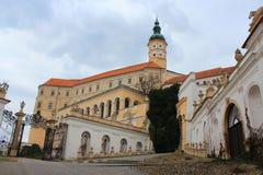Mikulov城堡,捷克共和国 库存照片