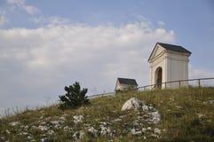 Mikulov -圣洁小山 库存图片