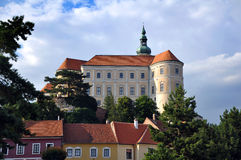 Mikulov Castle Czech Republic Stock Image