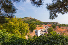 Mikulov castle, Southern Moravia, Czech Republic Stock Photos