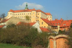 Mikulov chateau Royalty Free Stock Photo
