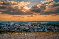 Mikulov city and castle, Czech Republic stock photo