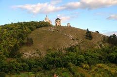 Mikulov - colina santa Fotos de archivo