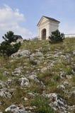 Mikulov - colina santa Imagen de archivo