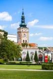 Church of the St. Wenceslas in Mikulov, Czech Republic. Stock Photos