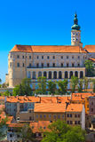 Mikulov / Nikolsburg castle and town Stock Image