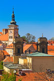 Mikulov / Nikolsburg castle and town Royalty Free Stock Image