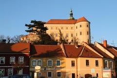 Mikulov Schloss lizenzfreie stockbilder