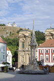 Mikulov, the square with Holy Trinity column Royalty Free Stock Photography