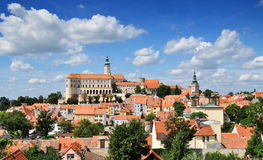 Mikulov, town's panorama Royalty Free Stock Photos