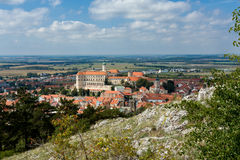 Mikulov town, South Moravia, Czech Republic Stock Image