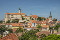 Mikulov, Tsjechische Republiek Stock Fotografie