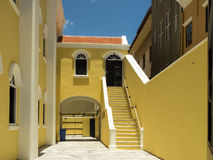 Mikvé Israel-Emanuel Synagogue  - Punda. Views around Punda old City  Willemstad Curacao Caribbean Stock Images