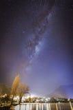 Miky way above Lake Wakatipu Royalty Free Stock Photos