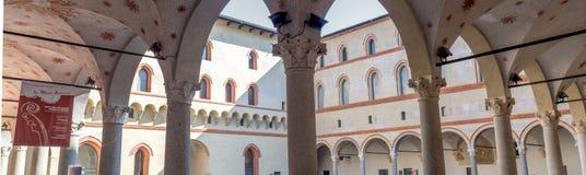 Milán arquea el tiro de la esquina del panorama Imagen de archivo libre de regalías