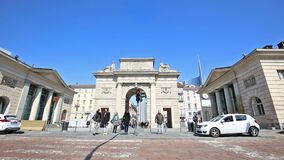 Milán: ` de Porta Garibaldi del ` metrajes