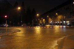Milán el desbordamiento de Seveso del fiume Foto de archivo