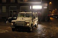 Milán el desbordamiento de Seveso del fiume Fotografía de archivo libre de regalías