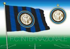 MILÁN, ITALIA, AÑO 2017 - campeonato del fútbol de Serie A, bandera 2017 del equipo de Internazionale