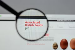Milán, Italia - 10 de agosto de 2017: Logotipo británico asociado o de las comidas Foto de archivo libre de regalías
