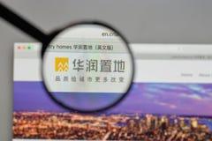 Milán, Italia - 10 de agosto de 2017: Logotipo de la tierra de China Res en el websi foto de archivo libre de regalías