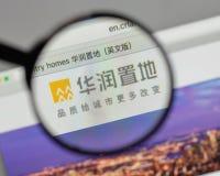 Milán, Italia - 10 de agosto de 2017: Logotipo de la tierra de China Res en el websi fotos de archivo