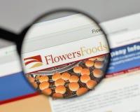 Milán, Italia - 10 de agosto de 2017: Logotipo de las comidas de las flores en el websit Imágenes de archivo libres de regalías