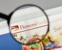 Milán, Italia - 10 de agosto de 2017: Logotipo de las comidas de las flores en el websit Fotografía de archivo libre de regalías