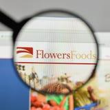 Milán, Italia - 10 de agosto de 2017: Logotipo de las comidas de las flores en el websit Imagen de archivo