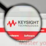 Milán, Italia - 1 de noviembre de 2017: Logotipo de las tecnologías de Keysight en t Foto de archivo libre de regalías
