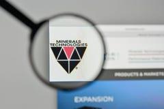 Milán, Italia - 1 de noviembre de 2017: Logotipo de las tecnologías de los minerales en t Imagen de archivo libre de regalías