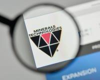 Milán, Italia - 1 de noviembre de 2017: Logotipo de las tecnologías de los minerales en t Foto de archivo libre de regalías