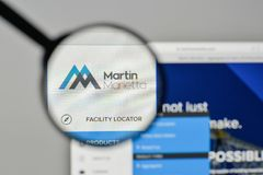 Milán, Italia - 1 de noviembre de 2017: Logotipo de Martin Marietta Materials Foto de archivo libre de regalías