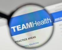 Milán, Italia - 1 de noviembre de 2017: Logotipo de Team Health Holdings en el th Foto de archivo