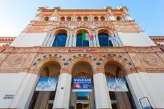 MILÁN, ITALIA - 6 de septiembre de 2016: El edificio de Milan Natural History Museum Fotografía de archivo