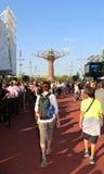 Milán, Italia - 8 de septiembre de 2015 Expo Milano 2015 Árbol de Li Imagen de archivo libre de regalías