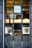 Milán, Italia - 24 de septiembre de 2017: Tienda de Tiffany en Milán Molestia fotografía de archivo