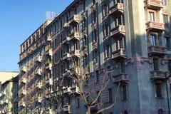 Milán (Italia): edificios residenciales Foto de archivo