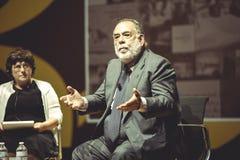 MILÁN, ITALIA 26 10 2015 Francis Ford Copolla en la medios conferencia durante la EXPO Milán 2015 Imagen de archivo