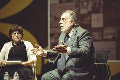 MILÁN, ITALIA 26 10 2015 Francis Ford Copolla en la medios conferencia durante la EXPO Milán 2015 Fotografía de archivo