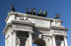 Milán (Italia): Paso del della de Arco Imagenes de archivo