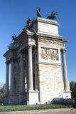 Milán (Italia): Paso del della de Arco Fotografía de archivo libre de regalías